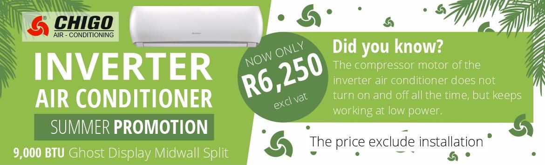 Chigo Air - Conditioning Summer Promo 9,000 BTU Inverter